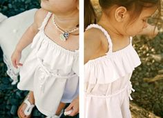 Beachcomber Dress made from white cotton jersey -- getting ready for summer