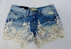 NWR: Diamonds and Denim? 2019 NWR: Diamonds and Denim? The Knot The post NWR: Diamonds and Denim? 2019 appeared first on Lace Diy. Diy Shorts, Diy Jeans, Recycle Jeans, Jeans Refashion, Denim And Lace, Lace Jeans, Lace Shorts, Denim Fashion, Boho Fashion
