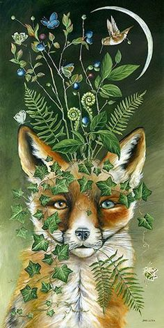 Fuchs Tattoo, Photo D Art, Fox Art, Painting Gallery, Wildlife Art, Whimsical Art, Animal Paintings, Amazing Art, Art Drawings
