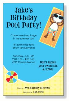 The best way to cool off during hot summer month is at the beach or the pool! Invite friends and family to enjoy the weather with these summer party invites. Pool Party Activities, Pool Party Invitations, Invite Friends, Beach Party, Birthday, Fun, Birthdays, Dirt Bike Birthday, Hilarious