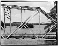 Canal Bridge VIEW OF TRUSS PANELS FROM EAST - North Carolina Route 126  ... images  from AncientFaces.