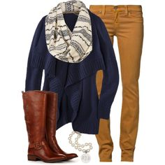 Mustard Skinnies and Scarf :)