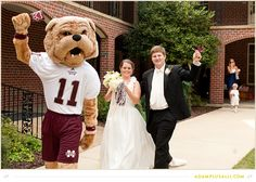 Let your favorite team mascot escort you out of your wedding for the grand exit!