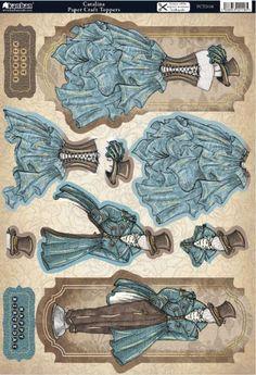 3 D steampunk Papel Vintage, Vintage Cards, Paper Dolls, Art Dolls, Image 3d, Paper Art, Paper Crafts, Etiquette Vintage, Images Vintage