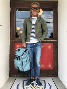 Jean Outfits, Casual Outfits, Men Casual, Japanese Men, Field Jacket, Up Styles, Trending Memes, Bomber Jacket, Menswear