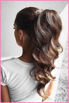 Cute Ponytail Hairstyles, Cute Ponytails, Easy Hairstyles, Wedding Hairstyles, High Ponytails, Summer Hairstyles, Beautiful Hairstyles, Ponytail Ideas, Ponytail Updo