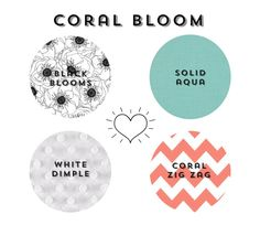 coral bloom bedding set by iviebaby on Etsy, $325.00