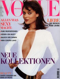 GERMAN VOGUE - JULY 1996 COVER MODEL - SHALOM HARLOW
