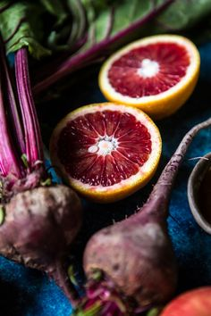 Red's 3 Favorite Winter Juices and Smoothies- Protein Packed Matcha Smoothie-Citrus Beet Juice-Tropical Carrot Juice | halfbakedharvest.com @hbharvest