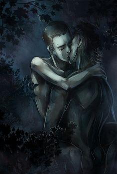 Night in the woods by ~VivienKa on deviantART (Derek Hale / Stiles Stilinski, Sterek, Tyler Hoechlin, Dylan O'Brien, Teen Wolf Fanart)