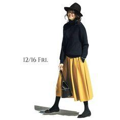 気持ちが前向きになる元気なマスタード色のスカートでリフレッシュ!Marisol ONLINE|女っぷり上々!40代をもっとキレイに。