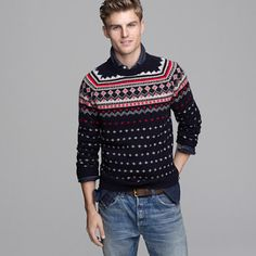 j crew lambswool fair isle sweater