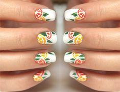 Citrus Nails - summer manicure - nail art tutorial
