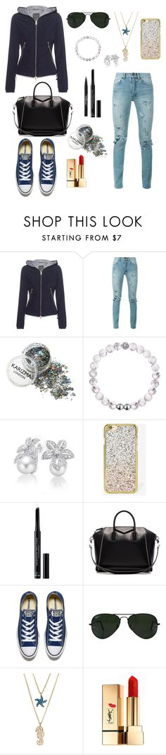 """NO TITLE"" by alessia-only ❤ liked on Polyvore featuring Duvetica, Yves Saint Laurent, Bling Jewelry, Skinnydip, Christian Dior, Givenchy, Converse, Ray-Ban, Sugar NY and Trish McEvoy"