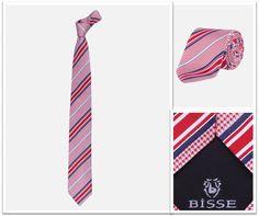 Kırmızı-Mavi Çizgili İpek Kravat / Red-Navy Stripe Silk Tie http://www.bisse.com/p/126/cizgili-ipek-kravat?variantId=452