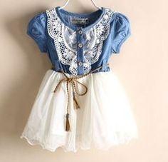 Cute White Denim Dress for Girls Toddler Western Denim Dress Prop | Rudelyn's Sari Sari Store