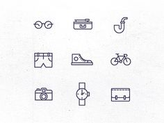 Hipster Icons in Icons, Symbols & Pictograms