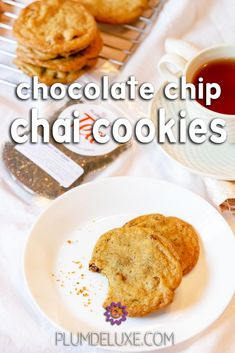 These chocolate chip chai cookies are a delicious twist with an incredible depth of flavor that is both nostalgic and newly exciting. #chocolatechipcookiesrecipe #chaiteacookies #easycookies