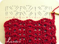 Lanas de Ana: RED SCARF (Graphic Pattern)