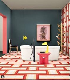 @repost @livingcorriere ⠀⠀⠀⠀⠀⠀⠀⠀⠀ Bisazza Cementiles by David Rockwell *link in bio*⠀⠀⠀⠀⠀⠀⠀⠀ Living N. 1/2, 2018 Styling…