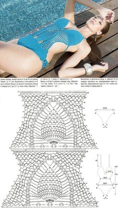 Без заголовка Shorts Crochet, Gilet Crochet, Crochet Bikini Pattern, Swimsuit Pattern, Crochet Diagram, Crochet Clothes, Crochet Stitches, Knit Crochet, Crochet Lingerie