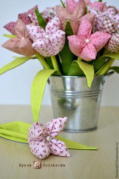 Купить Текстильные цветы - розовый, цветы, цветы ручной работы, цветок, цветы из ткани