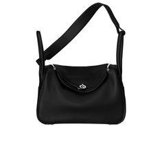 Hermes - Black leather Lindy bag.