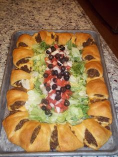 Taco Ring. It was easy to do and it was good however it leaves u wanting the crunch of a taco.. But I would make it again for a party or get together
