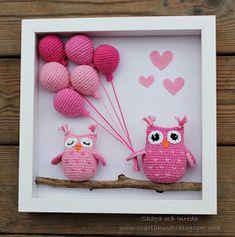Crochet Bird Patterns, Crochet Cat Pattern, Crochet Birds, Crochet Teddy, Crochet Patterns Amigurumi, Crochet Toys, Yarn Crafts, Diy And Crafts, Crochet Wall Hangings