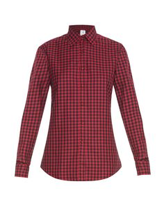 f88ce6c5 Red Checkered Shirt, Loose Fitting Tops, Loose Tops, Cut Loose, Loose Shirts