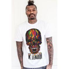 Mr Lenoir - White Tee Skull