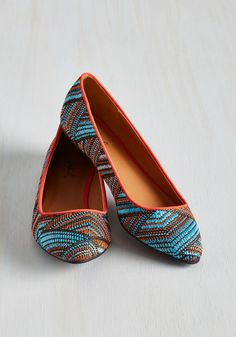 Hot Optical of Conversation Flat. These pointed-toe ballet flats are an icebreaker if weve ever seen one. #multi #modcloth