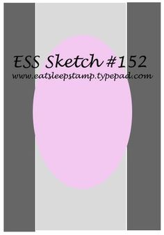 ESS card sketch No. 152. #cards #card_making #sketches #crafts