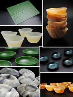 complementos como los nidos, platos cóncavos o mini boles