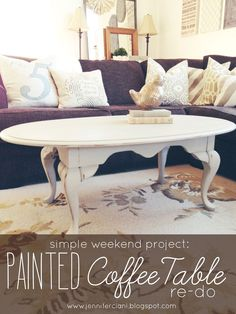 Simply Ciani: Antique Grey Coffee Table - painted coffee table re-do