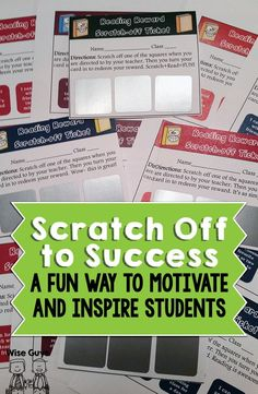 Scratch Off Tickets for the Classroom - Wise Guys: Inspire and motivate your students with these fun scratch-off ticket rewards. They're easy to make, here's how!