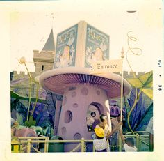 Vintage Disney Alice in Wonderland: Alice Attraction Ticket Booth - October 1958