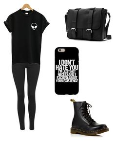 """"" by solenim on Polyvore featuring Topshop and Dr. Martens"