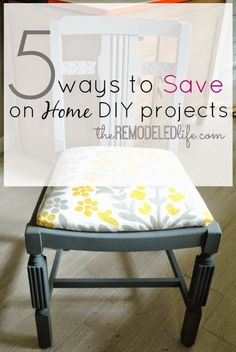The Remodeled Life: Five Tips to Save on Home Projects // The Remodeled Life Unique Home Decor, Cheap Home Decor, Diy Home Decor, Small Rooms, Home Improvement Projects, Stores, Home Remodeling, Cheap Renovations, Decoration