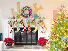 Clever Wreath #christmasmantels #christmasdecor
