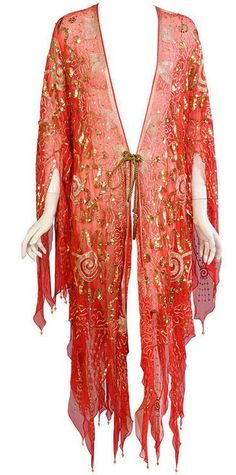 || Desert Lily Vintage || Coat  Zandra Rhodes, 1970s