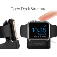 Amazon.com: Spigen S350 Apple Watch Stand with Night Stand Mode for Apple Watch Series 1 / Series 2 / 42mm / 38mm - Patent Pending: Cell Phones & Accessories