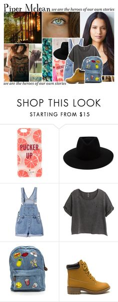 """""""Piper Mclean//HoO"""" by unsocialized-homeschooler ❤ liked on Polyvore featuring Kate Spade, rag & bone, H&M, PiperMcLean, rickriordan, HoO, DaughterofAphrodite and YABookFashion"""