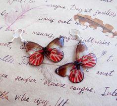 Butterfly earrings gift for women butterfly jewelry red brown boho earrings butterfly wings teen girl gifts gypsy jewelry gift for kids by Eternity31 on Etsy https://www.etsy.com/ca/listing/492842302/butterfly-earrings-gift-for-women