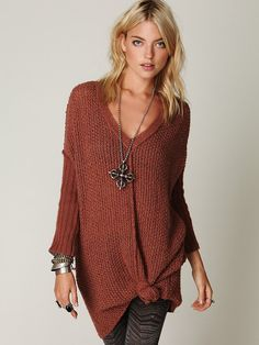 Free People. Tricô lindo!