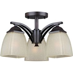 Forte Lighting 3 Light Semi Flush Mount | AllModern