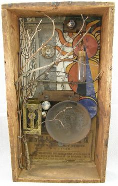 ⌼ Artistic Assemblages ⌼  Mixed Media & Collage Art - Watching Time
