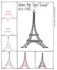 Learn to draw the eiffel tower in 6 steps : learn to draw Basic Drawing, Drawing Lessons, Step By Step Drawing, Drawing For Kids, Art Lessons, Kawaii Drawings, Doodle Drawings, Easy Drawings, Tour Effel