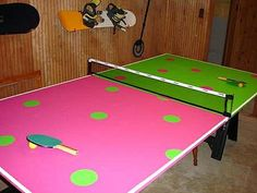 Take down the net and we will have the cutest pong table on campus!