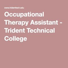 Occupational Therapy Assistant (OTA) subjects for university